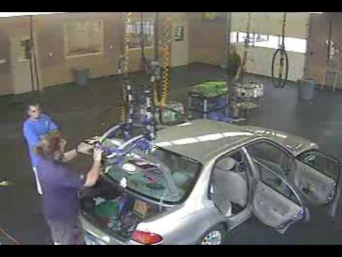 Bike rack fail at car wash - YouTube