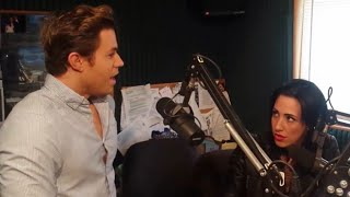 Ashley Parker Angel on w/Gina at Mix107.7 for Wicked