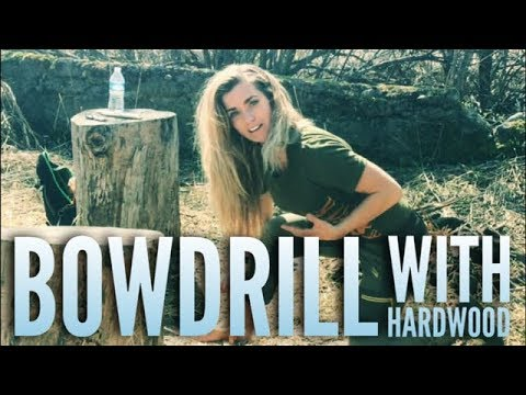 Bowdrill Friction Fire with Hardwood w. Melissa Miller