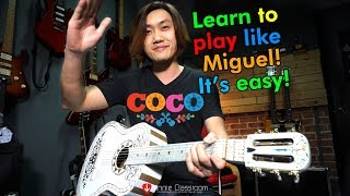 Remember Me (Coco Disney.Pixar) - Guitar Tutorial, Lullaby verison
