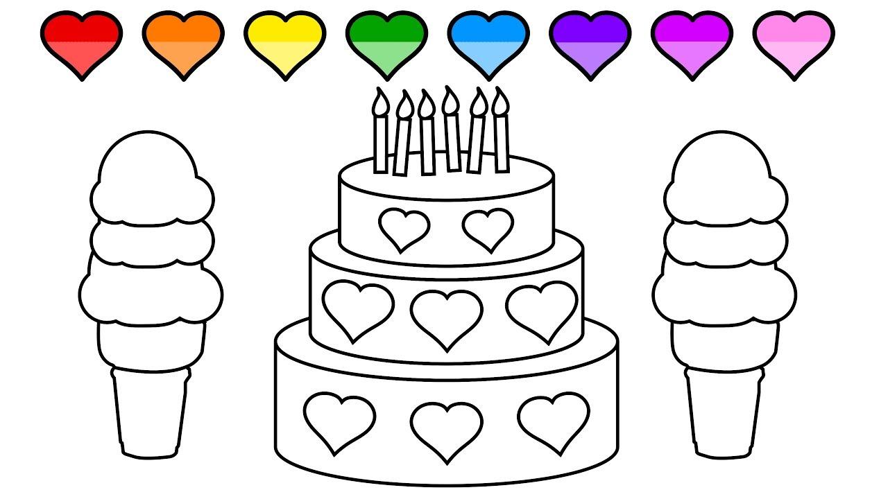 Dibujos De Pasteles Para Colorear. Top Dibujos De Pasteles Para ...