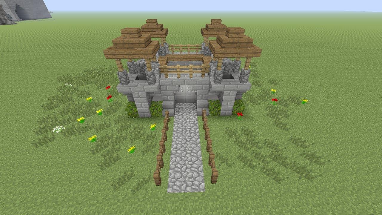 Geliefde Minecraft een klein kasteel maken Nederlands - YouTube #UN03