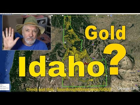 Where Can I Find Gold In Idaho? (USGS MRDS Gold Map Survey)