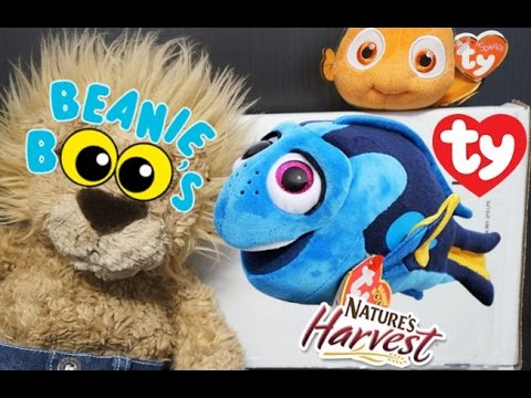 3319686f099 ty FINDING DORY BEANIE BOOS Natures Harvest Bread SURPRISE BOX Disney  BuildaBear NEMO New Shark Week