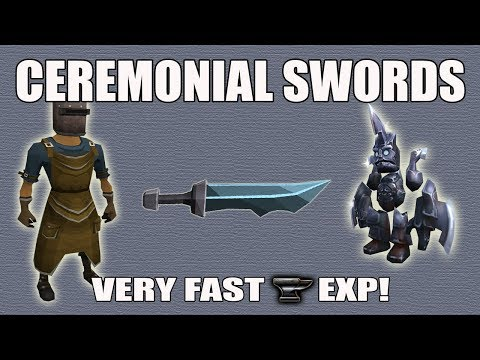 [Runescape 3] Ceremonial Swords Guide 2017 | Fast Smithing Exp! | Smithy, Brawlers, Outfit, Etc