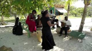 Etana & Caltariba System perform 'The Strong One' on the beach in Jamaica unplugged