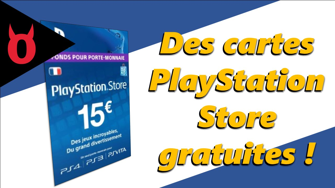 comment avoir une carte playstation store gratuit youtube. Black Bedroom Furniture Sets. Home Design Ideas
