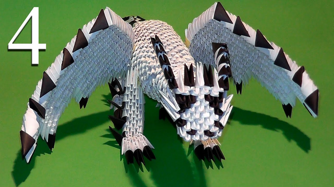 схема дракона-оригами