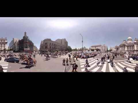 La asunción de Mauricio Macri en 360°