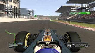 F1 2011 (PC) Race @ Turkey | Gameplay | High Graphics GT 220