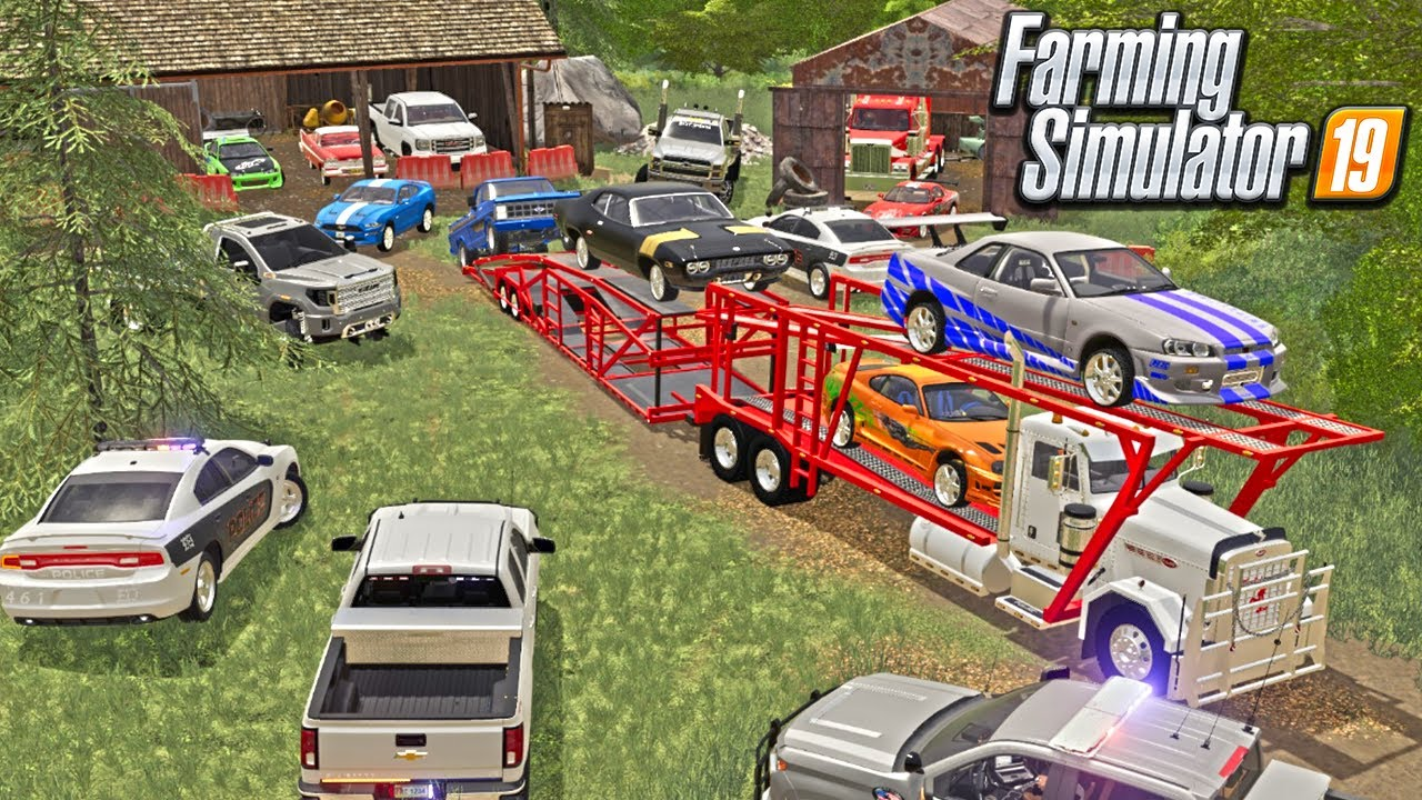 TAKE A HAUL CONTRACT & END UP ARRESTED IN A CHOP SHOP RING (FAST & FURIOUS CARS)FARMING SIMULATOR 19