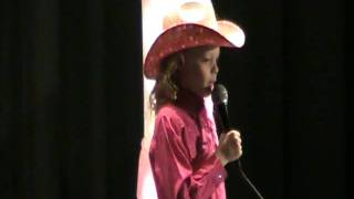 """Julaine Bliss singing """"Behind the Clouds"""" for the Little Miss Millard Pageant"""