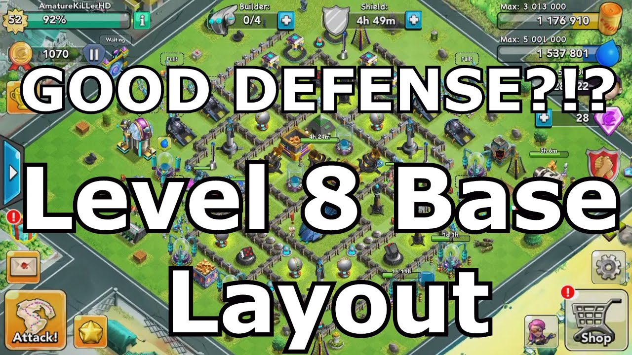 War clash of zombies best level 8 base layout youtube