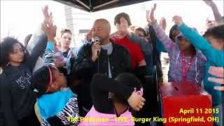 Springfield, Ohio! TURNS UP at Burger King LIVE on the radio w/ The Partyman (video)