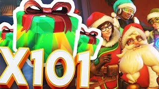 OVERWATCH 101X LOOT BOX OPENING & MEI'S SNOWBALL OFFENSIVE CHRISTMAS SPECIAL!!