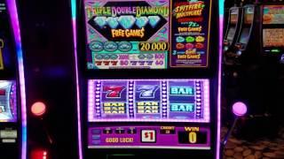 TRIPLE DIAMOND 💎 SLOT LIVE PLAY 💎 20$ Spin  Las Vegas
