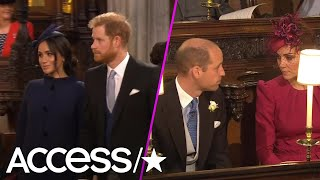 Prince Harry, Meghan Markle, Kate Middleton & Prince William Arrive At Princess Eugenie's Wedding