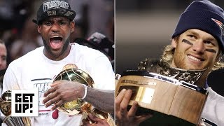 Greater feat: LeBron 8 straight NBA Finals or Tom Brady 8 straight AFC Championships? | Get Up!