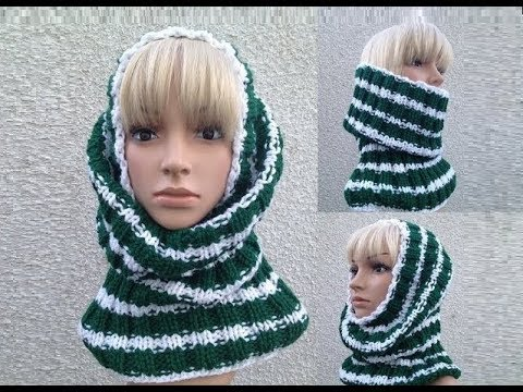 Knit Pattern Cowl Neck Warmer : How to Knit a Cowl - Neck Warmer - Tube Hat Pattern #9 by ThePatterfamily - Y...