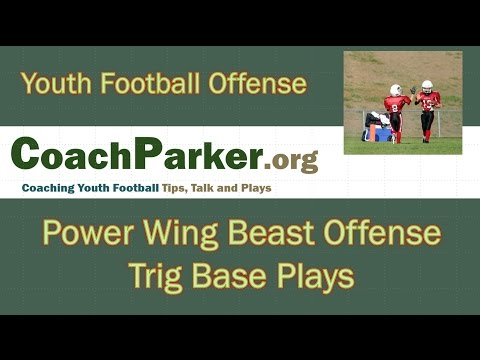Trig Diamond Formation Base Plays in the Power Wing Beast Youth Football Offense