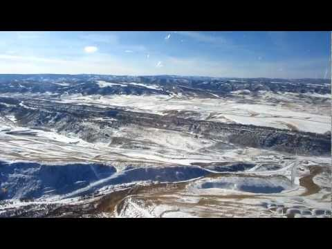 Landing in Yampa Valley/Hayden Airport - Steamboat Springs, Colorado in High Definition 1/31/2012