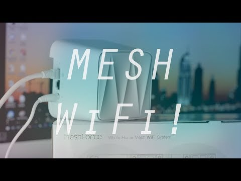 MeshForce Whole Home Mesh WiFi System (3 Pack) | Cover 4500sqft!