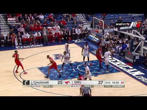 Men's Basketball Highlights: Cincinnati 56, SMU 71 (Courtesy ESPN)