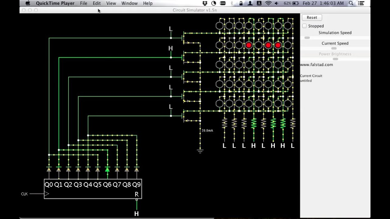 How Led Matrices Work With Shift Registers And Transistors Youtube Simple Running Chaser Circuit Using 3
