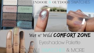 wet n wild comfort zone eyeshadow palette  review  swatches in day light  drug store makeup