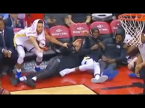 Stephen Curry Goes CRAZY with Kevin Durant After Klay Thompson Breaks Serge Ibaka