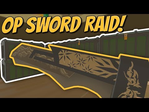 NEARLY UNRAIDABLE GLITCH BASE RAID WITH OP MODDED SWORD! - Modded Unturned