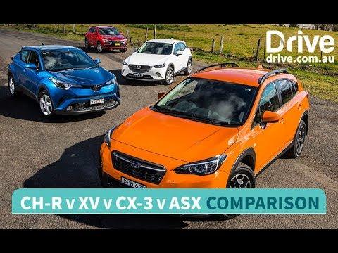 2017 Mazda CX-3 V Toyota C-HR V Subaru XV V Mitsubishi ASX Comparison   Drive.com.au