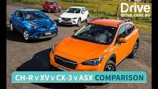 2017 Mazda CX-3 v Toyota C-HR v Subaru XV v Mitsubishi ASX Comparison | Drive.com.au