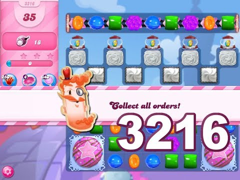 Candy Crush Saga Level 3216 (3 stars, No boosters)