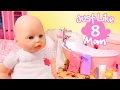 Bath Time Video for Girls 🍼 Just Like Mom #8 👶 Baby Annabell Baby Doll Bathtime. How to Bath a Baby