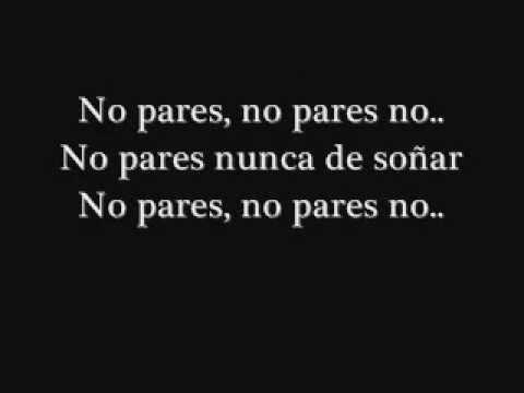 RBD No Pares with Lyrics
