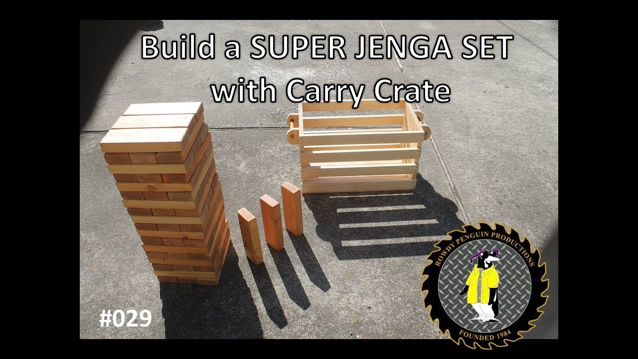 Building a SUPER JENGA game with carry crate (#029) - YouTube