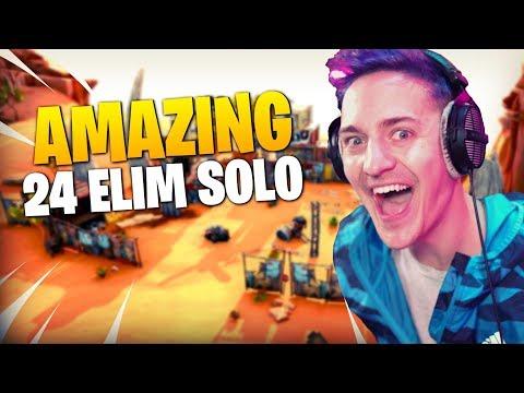 Ninja Destroys The Entire Lobby!! 24 Elim Solo