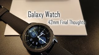 Galaxy Watch 42mm Final Thoughts