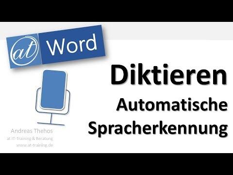 Word - Diktieren von Texten - Spracherkennung im neuen Office