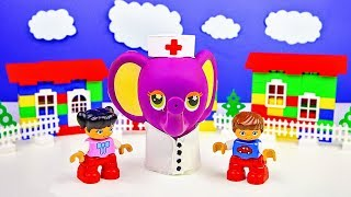 Kids Toys Play Lego Doctor Stop Motion Cartoon For Children