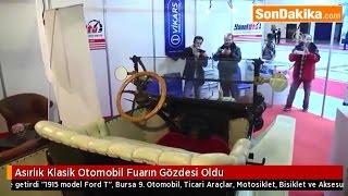 AA haber - Bursa Otoshow Fuarı'nın gözdesi asırlık otomobil oldu