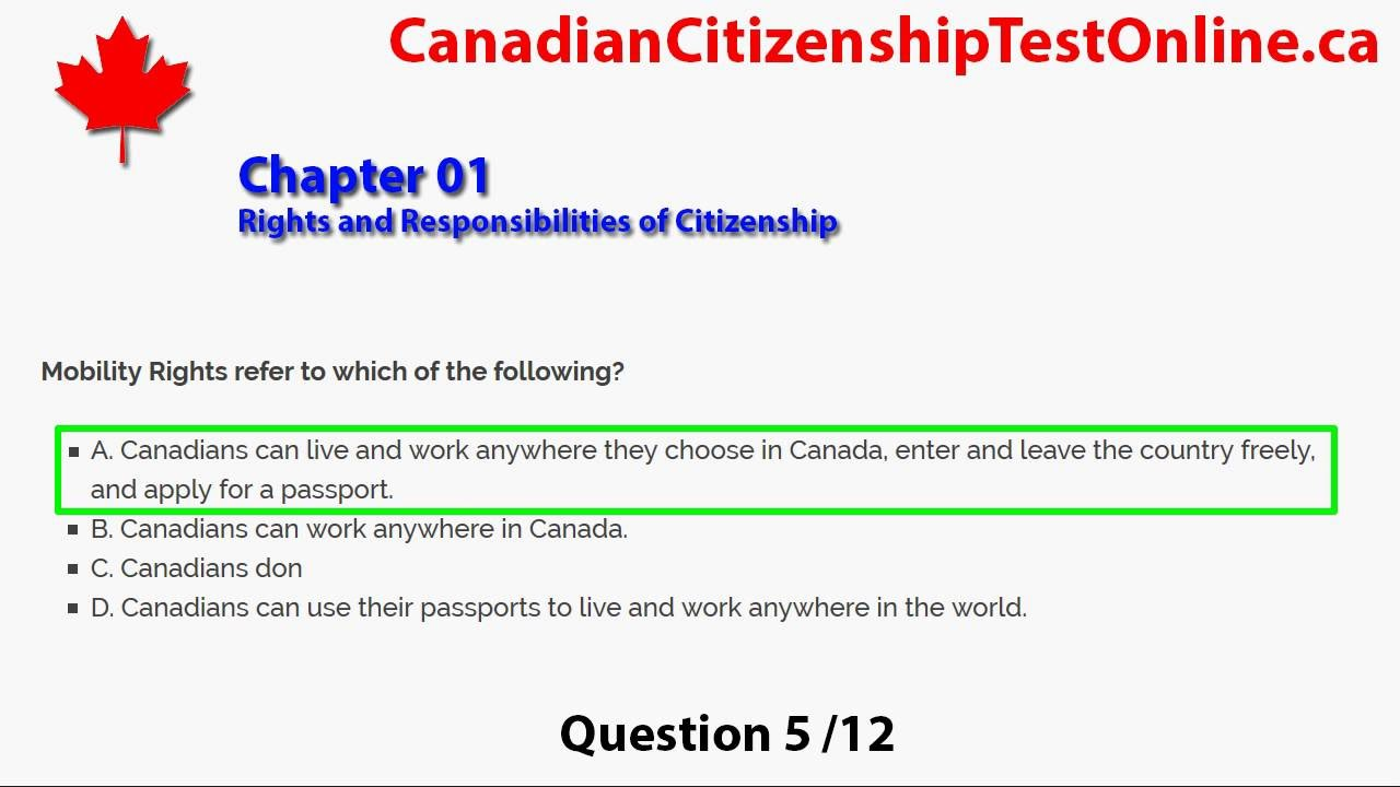 Canadian Citizenship Test | Online Citizenship Coaching Test