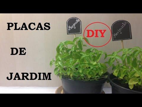 Placas de Jardim, como fazer? (Garden Plates) - DIY - VIDEO