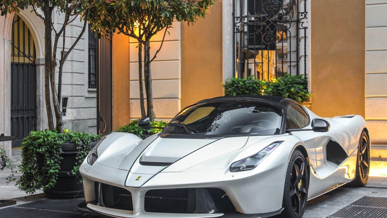White Ferrari LaFerrari Aperta in Milan!!!