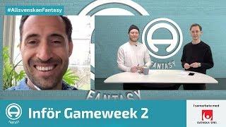 FanTV Allsvenskan Fantasy: Gameweek 2