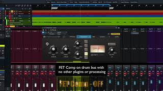 PreSonus Fat Channel Plug-in Demo: FET Comp