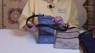 How to Embroider a Basic In-the-Hoop Zippered Bag
