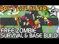 EPIC Zombie Defense + Base Building Game! - Don't Bite Me Bro Gameplay - Zombie Survival + Minecraft
