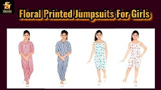 Floral Printed Jumpsuits For Girls